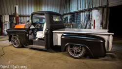 Rick and Jake's 55 Pickup Project with Stage 4 Nerd Rods Chassis