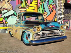 Wizard's 1958 Apache turned out killer with its patina and low body Nerd Rods C4 Frame. Wizard built his own stage 1 kit and used and entire C4 Corvette as a donor for the project with its LT1.
